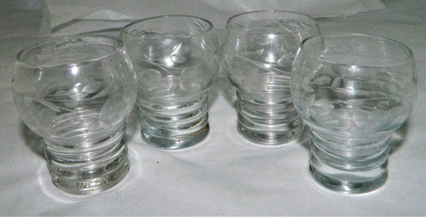 New - Hand Cut Set of 4 Waterford Crystal Schnapps Glasses