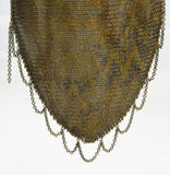 Antique Silver Plate Chain Mail Purse