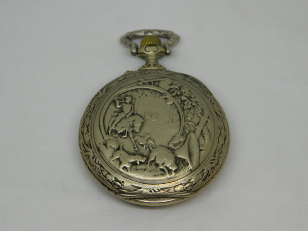 Large DOXA Erotic Pocket Watch - Little Red Ridinghood.