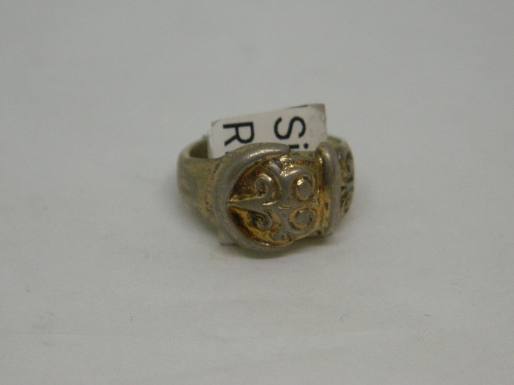 Gilt Sterling Silver Buckle Ring