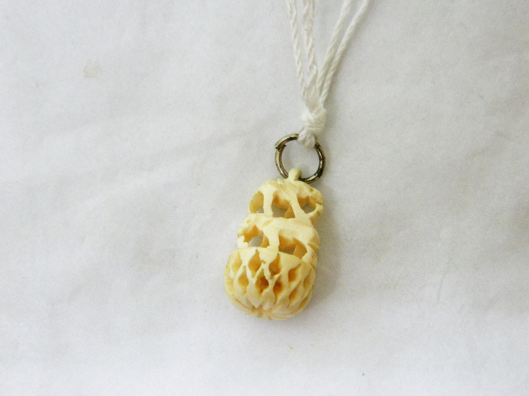 Antique Carved Ivory Pendant or Charm