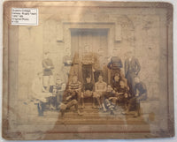 Queens College Galway - Rugby Team - 1887-1888 - Original Photo