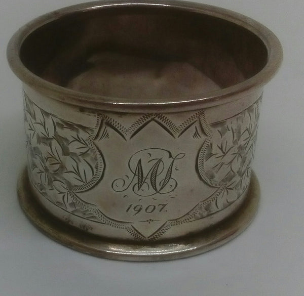 Sterling Silver Napkin Ring - Sheffield - 1907