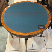 Hand-painted Edwardian Sheraton Style Demi-Lune Card table.