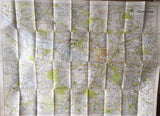 'Geographia' Map Large Scale plan of Glasgow.