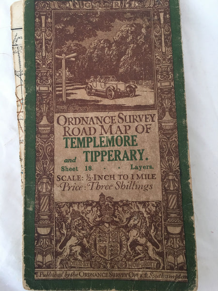 Ordnance Survey Office Road map of Templemore & Tipperary.
