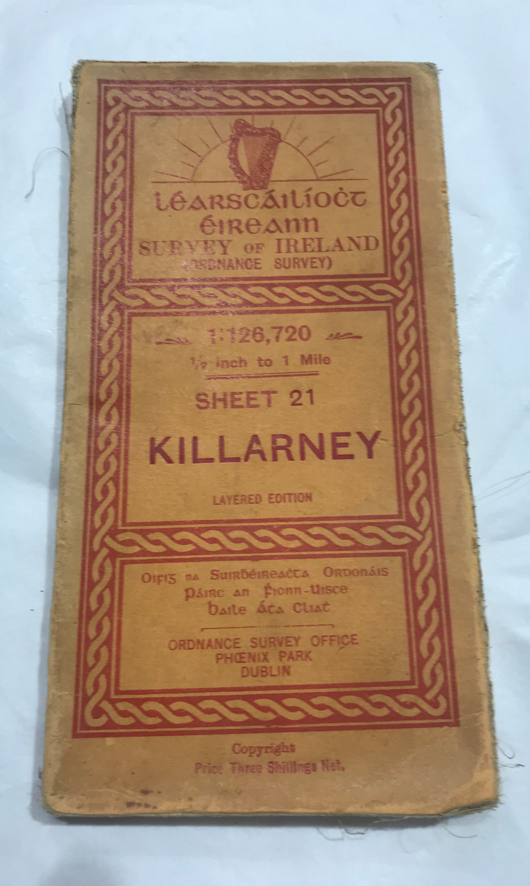 Ordnance Survey of Ireland map of Killarney.