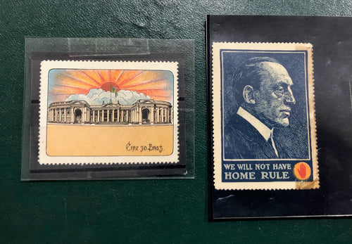 Pair of Home Rule Stamps.