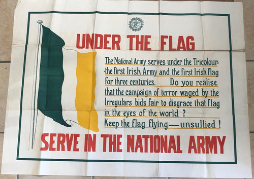 Pair of Large National Army (Free State) Recruitment Posters.