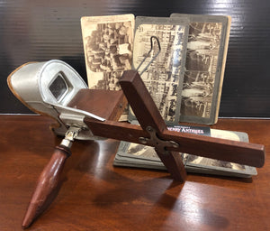Underwood Stereoscope - With Cards.