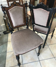 Pair of Victorian inlaid chairs.