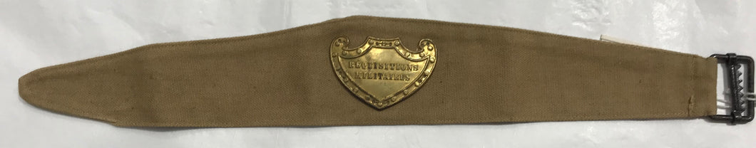 French Quartermaster armband WW1