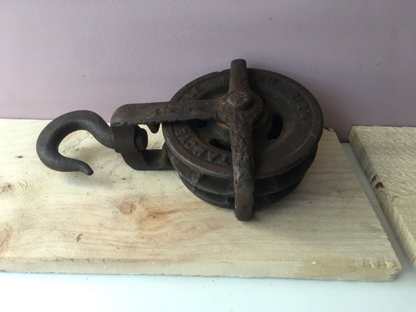 Victorian Cast Iron Block and Tackle.