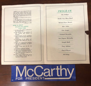 Collection of memorabilia- Gene McCarthy for US President - 1968