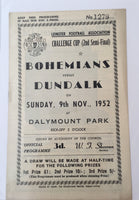 Bohemians Vs Dundalk - Challenge Cup Semi-Final - 1952