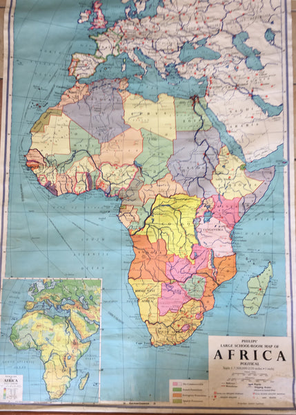 Large School Map of Africa.