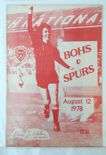 Bohemians Vs Spurs. 1978.