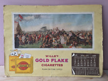 Will's Gold flake Calendar 1937.