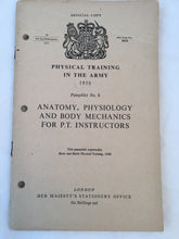 Anatomy, Physiology and Body Mechanics For PT Instructors - British Army