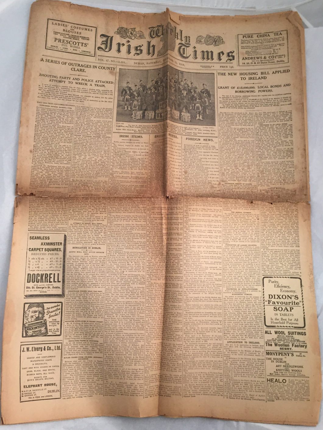 The Weekly Irish Times - 13-12-1919 - War of Independence.