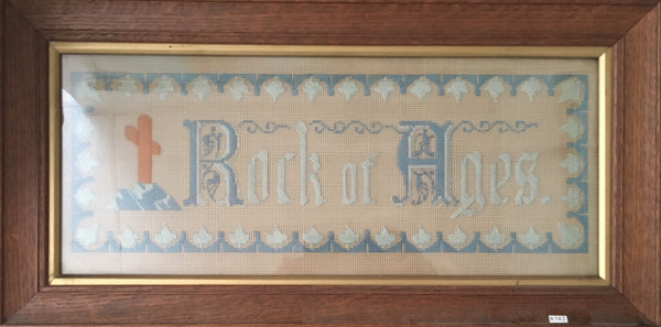 Pair of Framed Religious Needlework pictures.