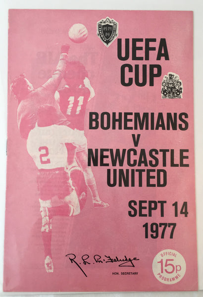 Bohemians Vs Newcastle Utd - UEFA Cup - 1977