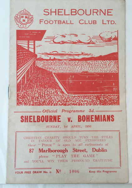 Shelbourne Vs Bohemians - 01-04-1956