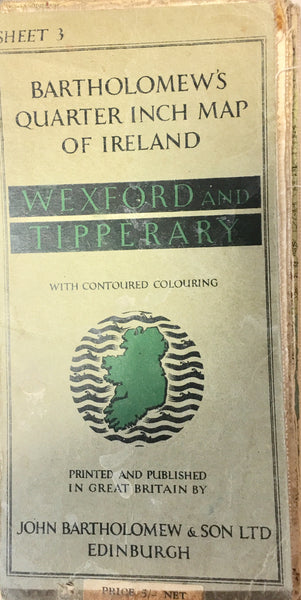 Bartholomew's Quarter inch Map - Wexford & Tipperary
