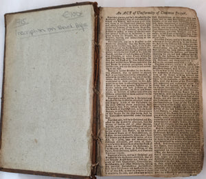 An Act of Uniformity of Common Prayer - 1715