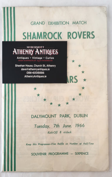 Shamrock Rovers Vs All Stars - Grand Exhibition Match - 1966