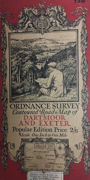 Ordnance Survey Map - Dartmoor and Exeter