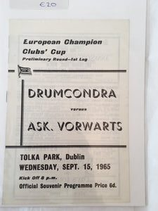 Druncondra Vs Aks. Vorwarts - Sep 15 - 1965