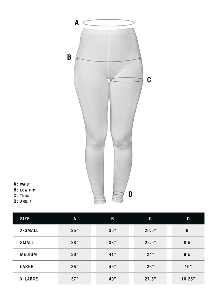 MerchLimited Leggings Size Guide