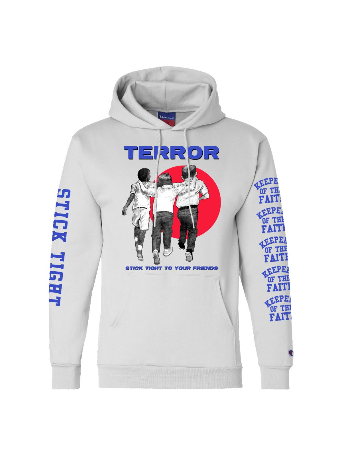 Terror - Stick Tight Champion Hoodie (White) - SHIPS APRIL 18 - Merch Limited