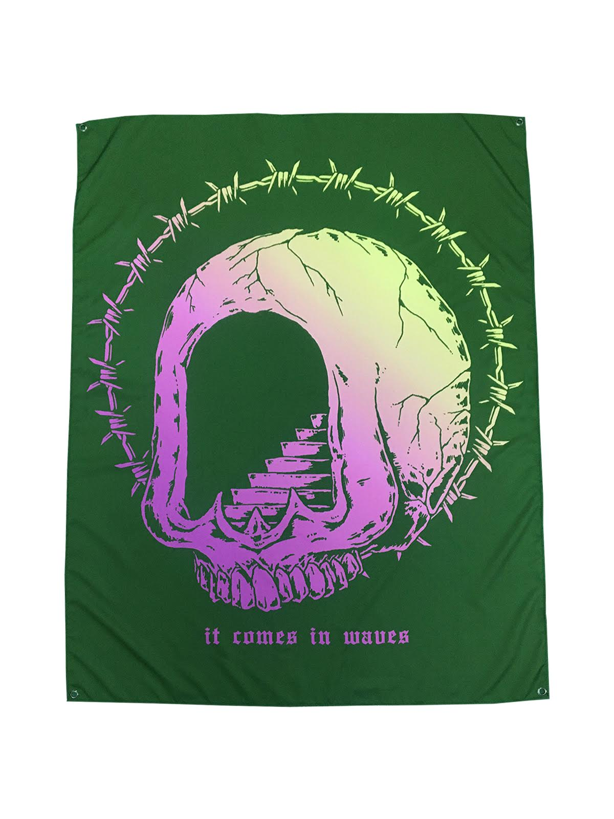 The Acacia Strain - It Comes In Waves Wall Flag - SHIPS MAY 5 - Merch Limited