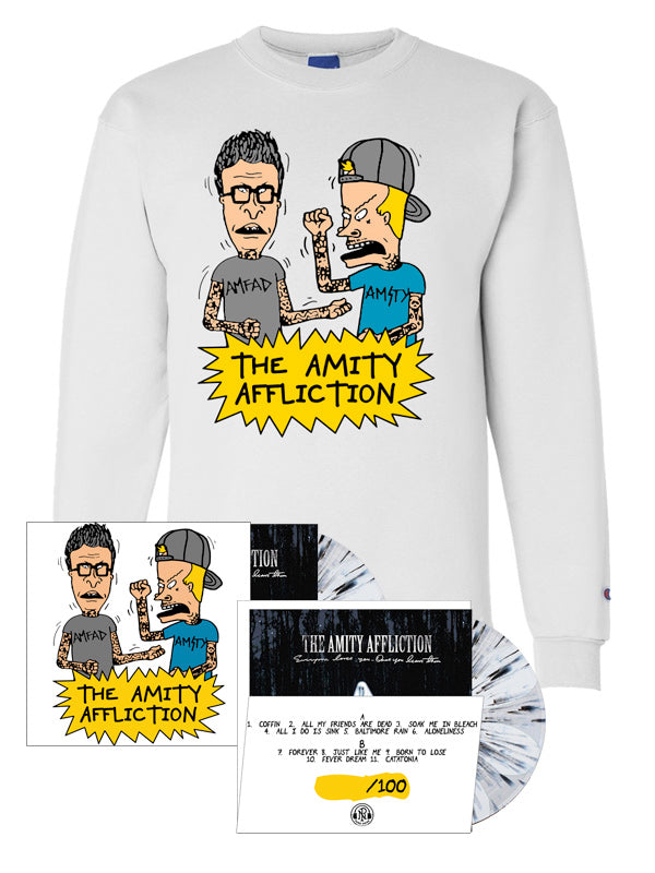 The Amity Affliction - LP + Champion Crewneck Bundle - SHIPS FEBRUARY 28 - Merch Limited