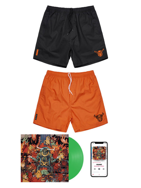 Dance Gavin Dance - Afterburner Beach Shorts Bundle - SHIPS AUGUST 14