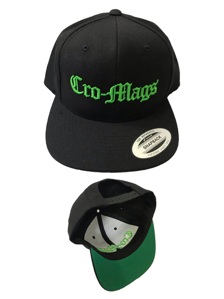 Cro-Mags - Logo Snapback Hat (Dayglow Edition) - Merch Limited