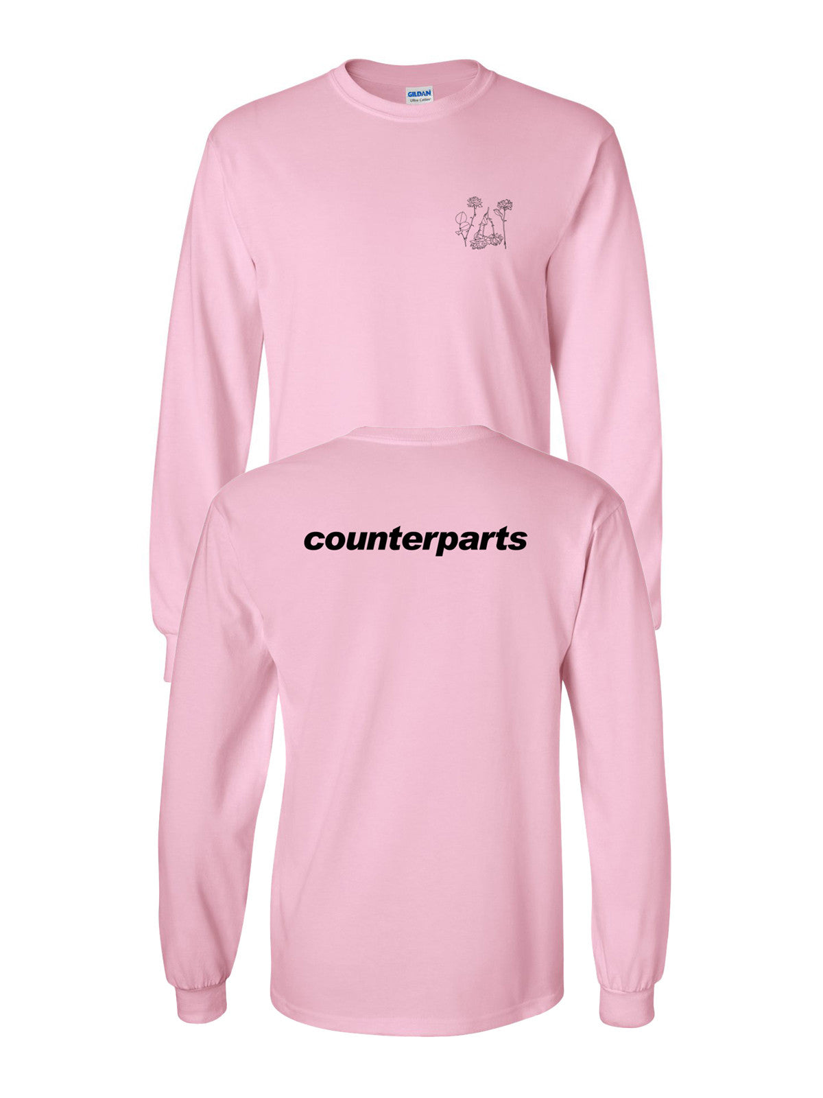 Counterparts - Flowers Longsleeve - Merch Limited