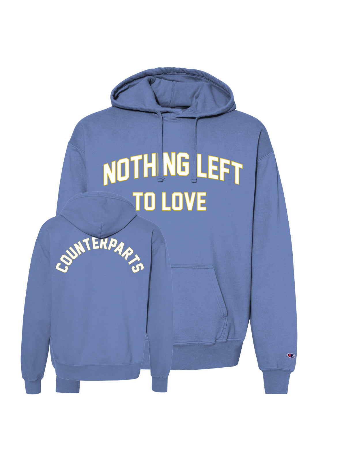 Counterparts - NL2L Garment Dyed Champion Hoodie (Saltwater) - SHPS FEBRUARY 28 - Merch Limited