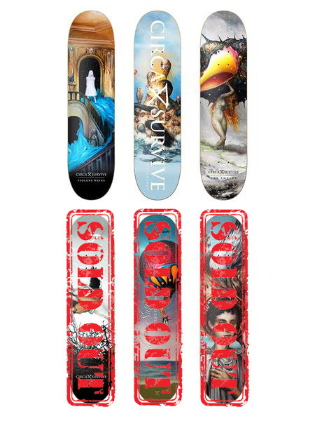 Circa Survive - Album Art Skate Decks - Merch Limited