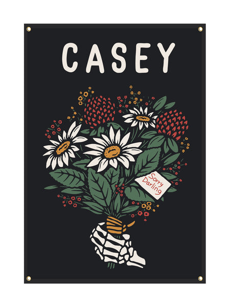 Casey - Sorry Darling Wall Flag - Merch Limited