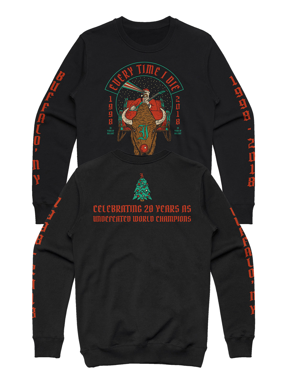 Every Time I Die - 2018 Holiday Crewneck - Merch Limited