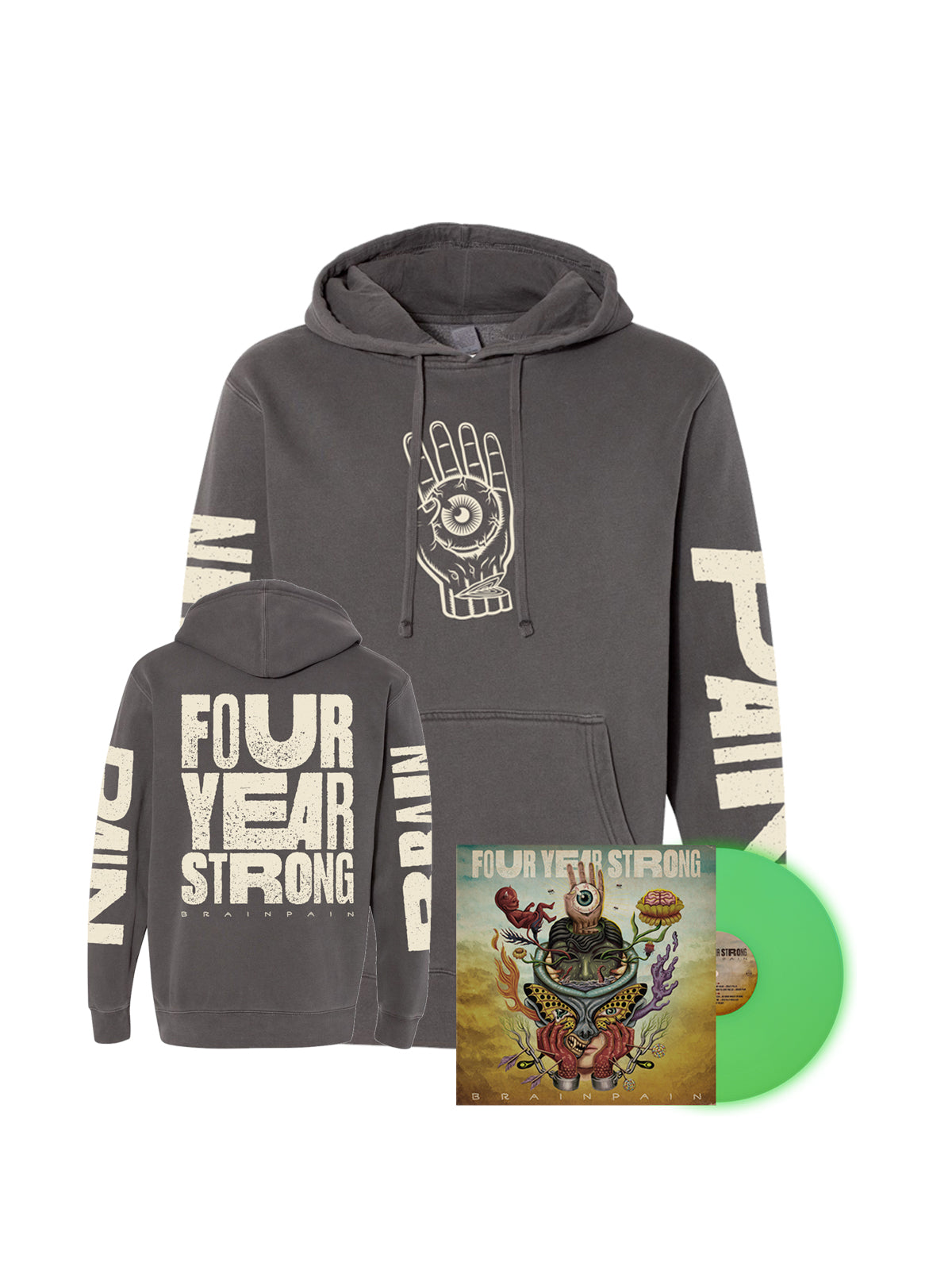 Four Year Strong - Brainpain LP + Hoodie Bundle - SHIPS MARCH 12 - Merch Limited