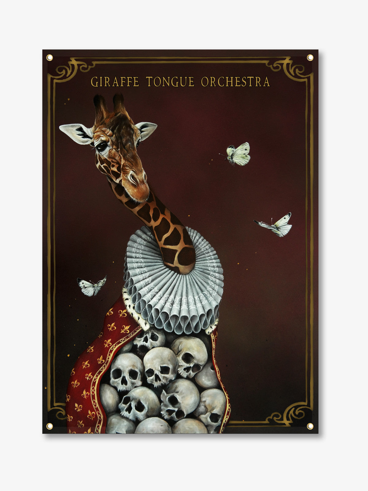 Giraffe Tongue Orchestra - Wall Flag + Digital Album Download - Merch Limited