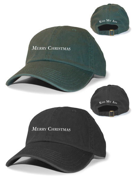 Merry Christmas, Kiss My Ass Dad Hat - MerchLimited - 1
