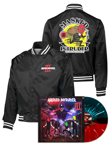 Masked Intruder - Baseball Jacket + Vinyl LP Bundle - Merch Limited