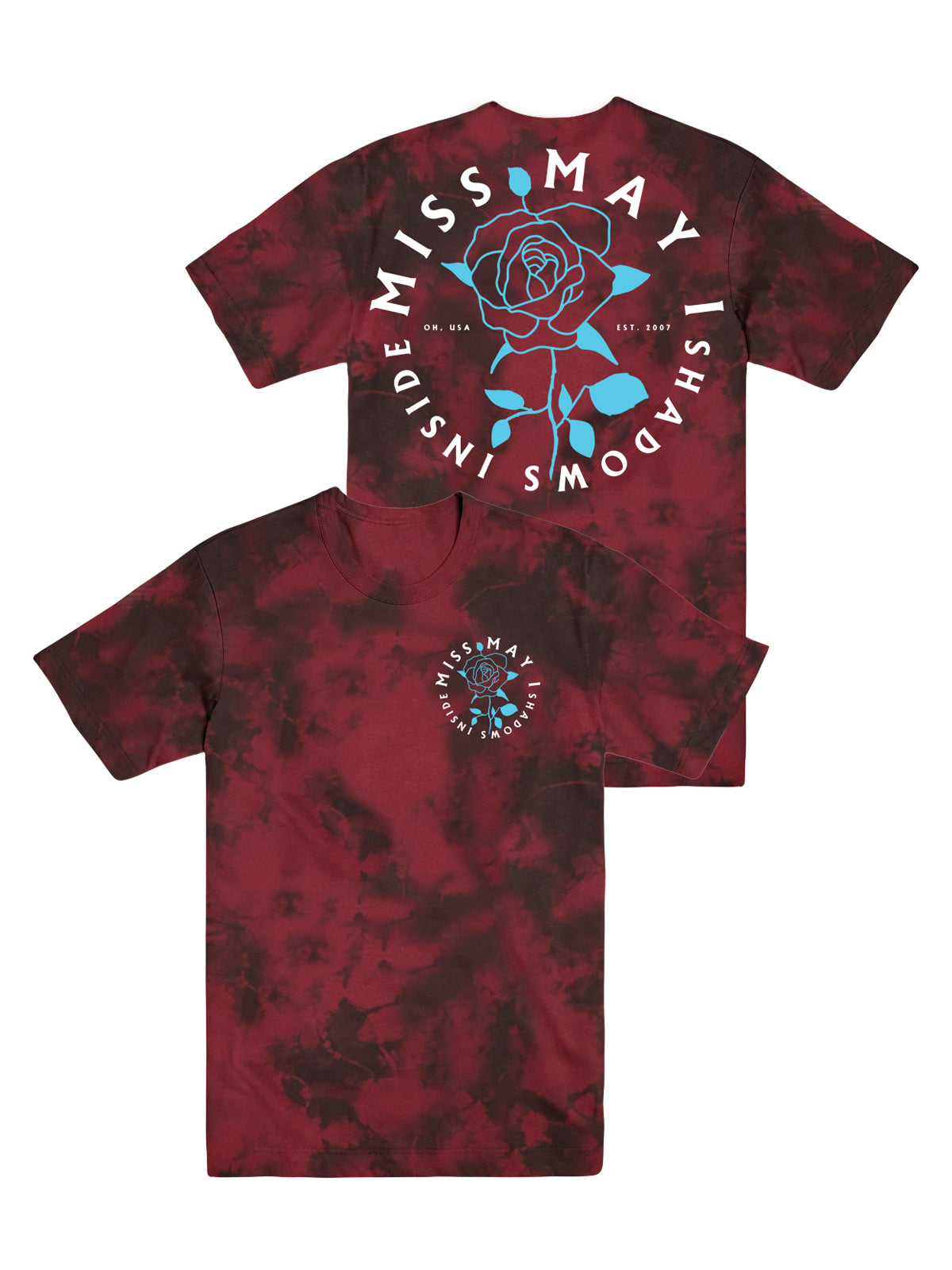 Miss May I - Rose Shirt (Tie Dye) - Merch Limited