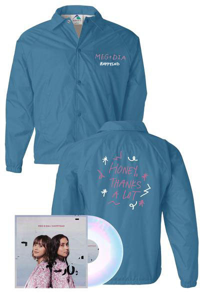 Meg & Dia - Happysad Vinyl + Jacket Bundle - Merch Limited
