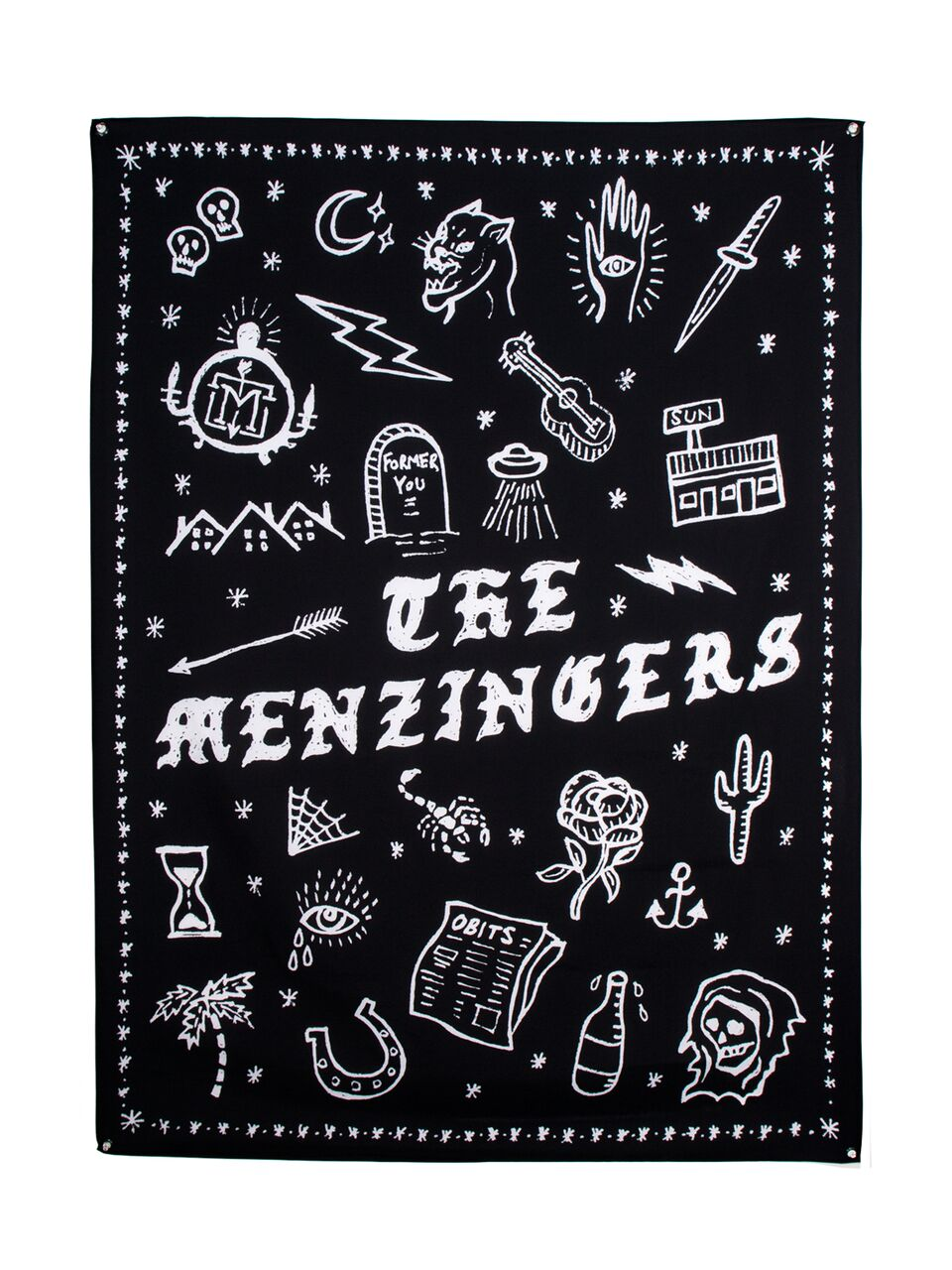 Menzingers - Stick N Poke Wall Flag - Merch Limited